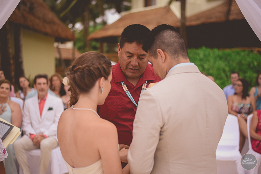 the father of the bride greets the groom