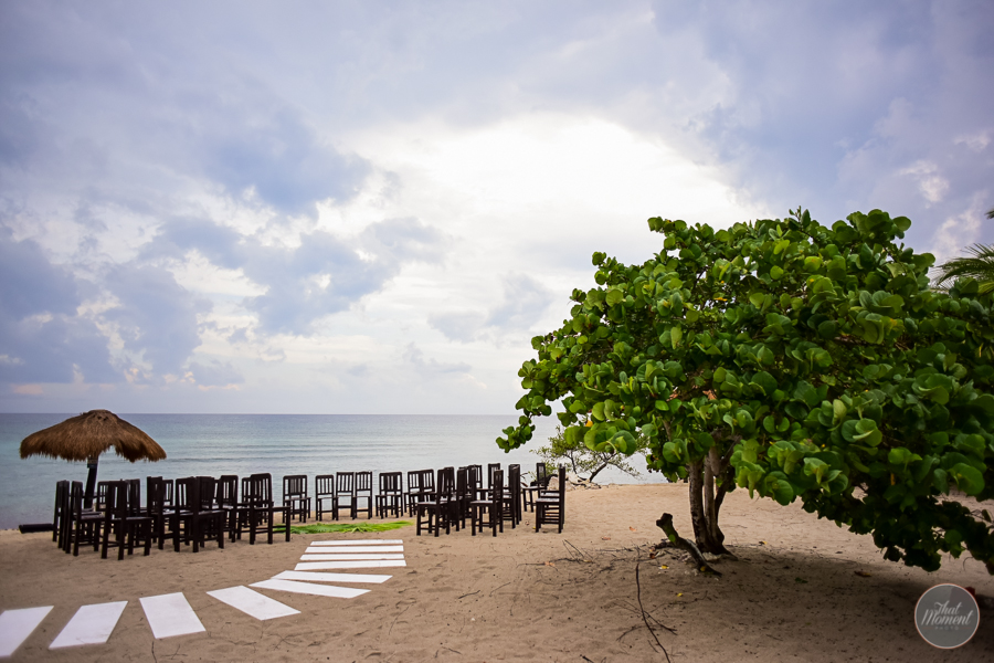 Mayan wedding ceremony on the beach